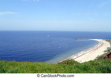 Coast of Helgoland, a german island in the North Sea