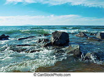 coast of Lake Baikal