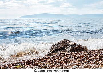 coast of Lake Baikal.
