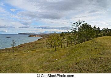 Coast of Lake Baikal. Russia.