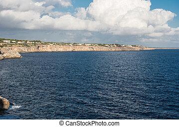 Coast of Majorca in the evening sun