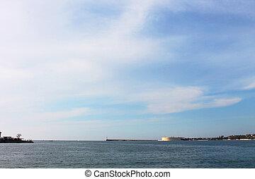 Coast of marine city, Sevastopol, Black Sea