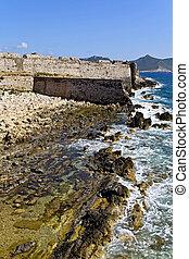 Coast of Methoni at Greece