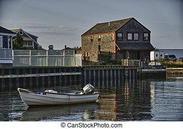 Coast of Nantucket in Massachusetts