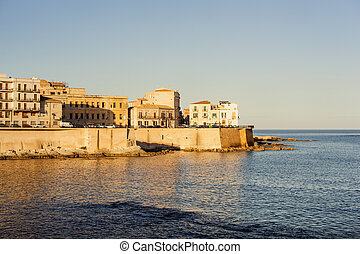 Coast of Ortigia, Syracuse - Coast of Ortigia island the...