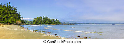 Coast of Pacific ocean, Vancouver Island, Canada - Panoramic...