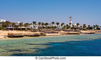 Sharm El Sheikh Egypt - Coast of Sharm El Sheikh Egypt as...