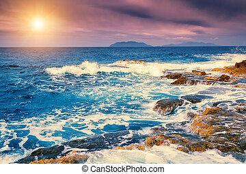 Coast of Sicily - Fantastic view of the cape Milazzo...