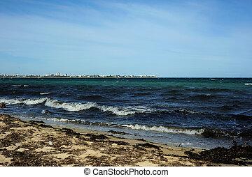 Coast of the Black Sea. Evpatoria. Crimea.