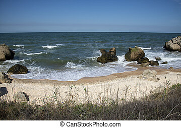 Coast of the Black Sea in Kerch