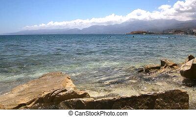 Coast of the island of Crete. Greece
