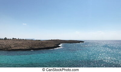 Coast of the Mediterranean sea in Cyprus - Coast of the...