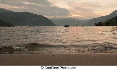 Coast of the Norwegian fjord. Norway