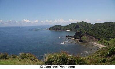 Coast of the Palau island. Philippines. - Coast of tropical...