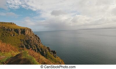Coast of the sea, Isle of Skye, Highland Region, Scotland -...