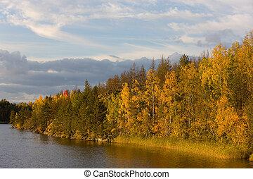 sunny autumn evening