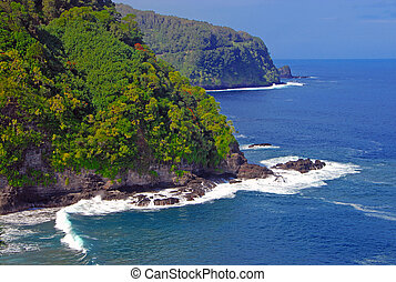 Coast off of Maui, Hawaii