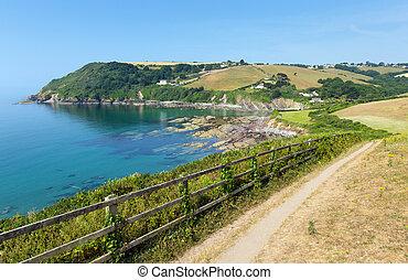 Coast path Talland Bay Cornwall