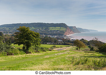 Coast path to Sidmouth Devon uk