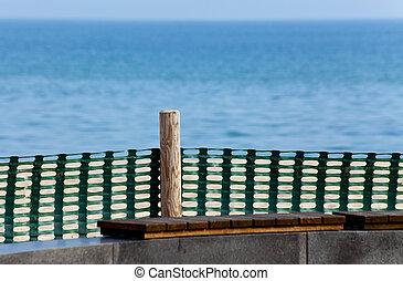 Coast protection near the promenade