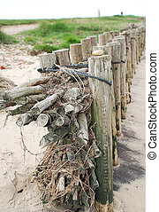 Coast protection on the island Amrum (Germany): groynes