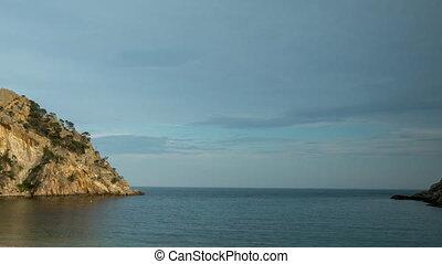 coast sea spain mediterranean timelapse - timelapse of beach...