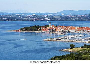 Coast town - Beautiful coast town Izola - Slovenia from...
