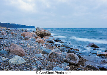 Coast with boulders