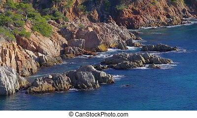 Coasta Brava coastal in Spain