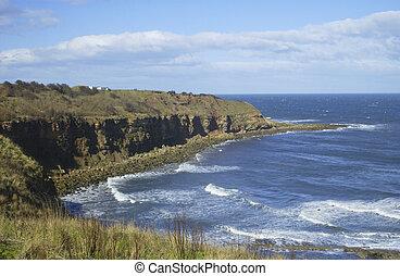 coastal bay at Cove with cliffs