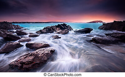 Coastal Beauty - Amazing Sunrise Over Australian Beach