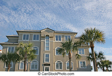 Coastal Condos - Nice beachfront stucco coastal condo...