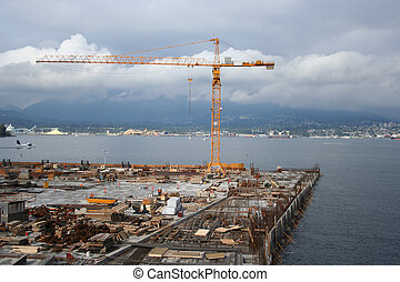 coastal construction site