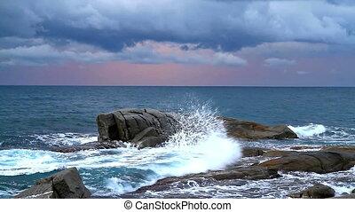 Coastal - Detail of the Spanish coast at the morning(Costa...