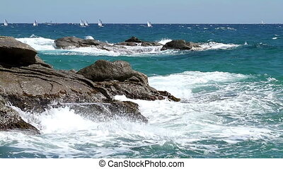 Coastal - Detail of the Spanish coast (Costa Brava)