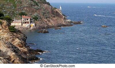 Coastal - Detail of the Spanish coastal(Costa Brava)