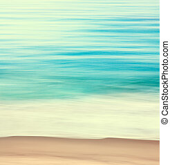 Coastal Edge Abstract - An abstract ocean seascape with...