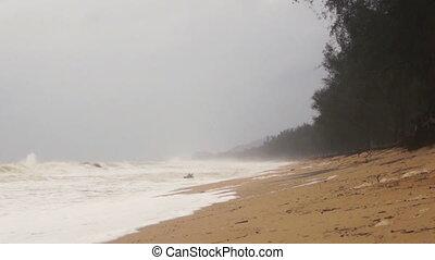 Coastal front facing monsoon.