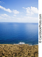 Coastal landscape - Air, water and land in coastal...