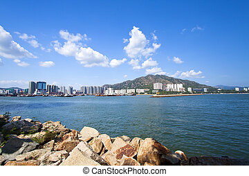 Coastal landscape and residential structure in Hong Kong