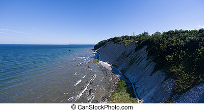 Coastal Landscape at Kap Arkona on Ruegen Island baltic Sea...