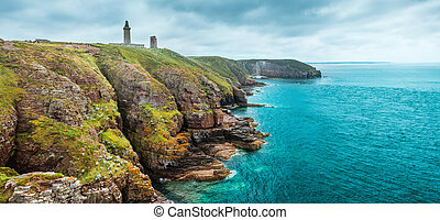 coastal landscape Bretagne, France - coastal summer...