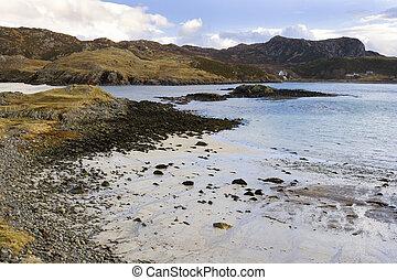Coastal landscape near the village of Scourie - Scotland