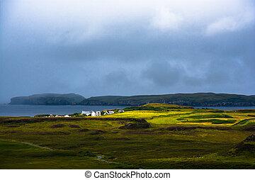 Coastal landscape on Isle of Skye