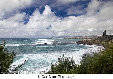 Coastal landscape on Kauai
