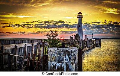 Coastal Lighthouse Sunrise