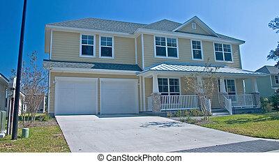 coastal residental 1 - bright yellow coastal living home in...