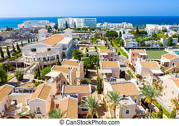 Coastal resort in Geroskipou area, Paphos. Cyprus