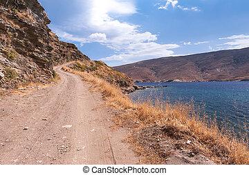 Coastal road in Greece