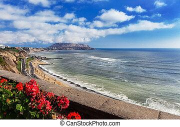 coastal road in Lima